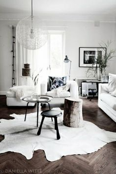 Modern Scandanavian Interior - A white room complete with a Moooi, love. by FutureEdge