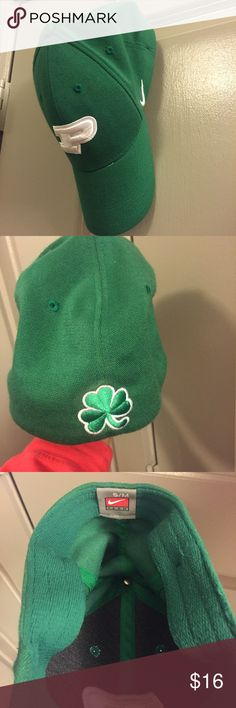 Shamrock Edition Purdue Nike Baseball Cap Green Nike Purdue hat. Saint Patrick's Day edition with shamrock in the back. Nike S/M. Has only been worn a handful of times. Excellent condition. Nike Accessories Hats