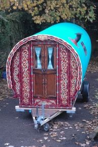 gypsy wagons- custom in UK.  Excellent photo galleries for ideas