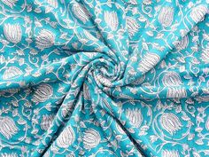 Indian Hand Block Print Dressmaking Cotton Fabric Craft Sewing By Yards A413 #Handmade