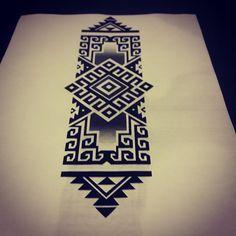 Aztec Tribal Patterns, Tribal Art, Tribal Tattoos, Black Tattoos, New Tattoos, Body Art Tattoos, Sleeve Tattoos, Maori Designs, Tattoo Ideas
