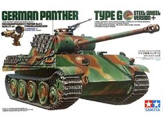 "Tamiya German Tank Panther ""Type-G"" Version 1/35 Scale Steel Wheel Version with Infrared Special Edition."