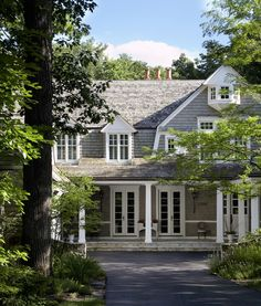 Shingle style dutch colonial.  Exterior curb appeal.  ZsaZsa Bellagio: House & Garden Beautiful: Classic, Fresh and Beautiful