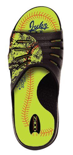 Jukz Softball Slide Softball Shoes, Softball Pitching, Girls Softball, Fastpitch Softball, Softball Players, Baseball Mom, Elite Softball, Baseball Treats, Softball Team Gifts