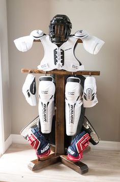 b04ed4081 End the scourge of dreaded hockey stench by making a hockey equipment drying  rack! Boys