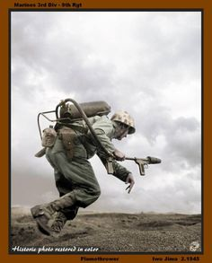USMC - 3rd Div 9th Rgt - Flamethrower - 2/1945
