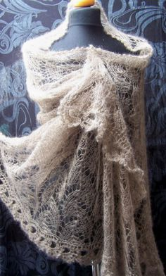 wedding stole lace knitted silk kidmohair