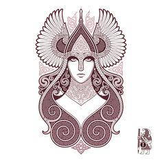 FREYJA Valkyrie Tattoo-Design by RAIDHO