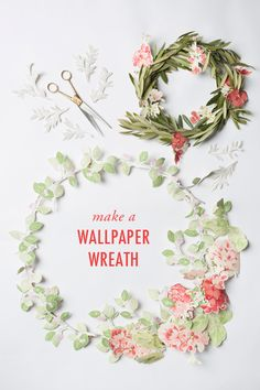 a pretty little paper wreath diy