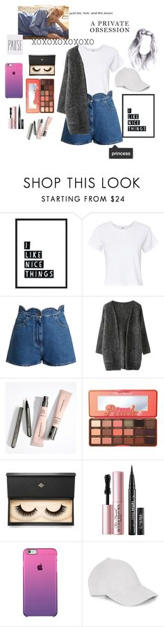 """Day Off with BTS's Kim Namjoon (Rap Monster)"" by chelseabyg ❤ liked on Polyvore featuring RE/DONE, Valentino, Too Faced Cosmetics, Lash Star Beauty and Le Amonie"