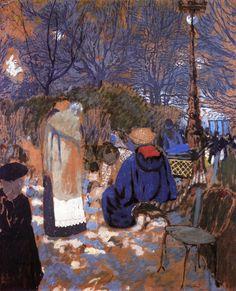 The Athenaeum - VUILLARD, Édouard French Nabi,Post-Impressionist (1868-1940)_Park Scene