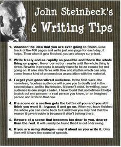 On writing...