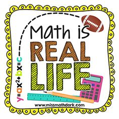 Math is Everywhere (A First-Week Math Project for Upper Grades) Real life math Education Quotes For Teachers, Quotes For Students, Math Education, Education English, Math Resources, Math Activities, Classroom Resources, Math Is Everywhere, Consumer Math