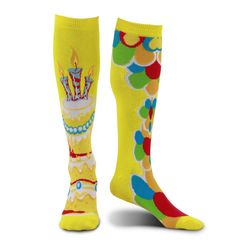 Celebration Birthday Knee High Socks Mismatched NEW Shoe size 6-11  #Elope