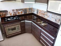 Luxury Kitchen Design, Kitchen Room Design, Home Room Design, Kitchen Cabinet Design, Kitchen Sets, Home Decor Kitchen, Interior Design Kitchen, Home Kitchens, Tiny House Furniture