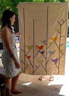 vintage bird quilt