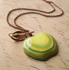 Golden Delicious Apple Necklace with Layered by TheSpacesInBetween