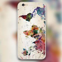 Color world map Transparent Black White skin hard case cover phone cases for…