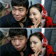 '그날의 분위기' 문채원, 개그맨 문세윤과 함께 '찰칵'