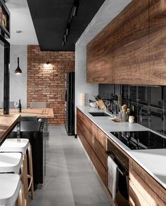 Modern kitchens utilize clever design as well as smooth styles to produce a remarkable space to cook, eat as well as delight. Search our choice of the best modern-day kitchen interior design Stylish Kitchen, Modern Kitchen Design, Modern Interior Design, Modern Kitchens, Minimalist Interior, Interior Ideas, Kitchen Interior Diy, Home Decor Kitchen, Kitchen Furniture