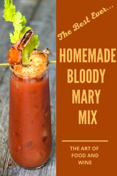 This perfectly seasoned homemade Bloody Mary Mix and recipe takes just to put together. Great for parties and brunch. Homemade Bloody Mary Mix, Bloody Mary Recipes, Vodka And Pineapple Juice, Vodka Lime, Infused Vodka, Bottomless Brunch, Taste Made, Spring Recipes, Sunday Brunch