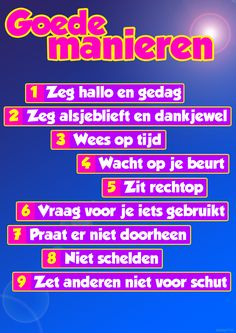 Mooie poster over goede klas-manieren http://www.meestertim.nl/klas/goed-gedrag/