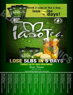 Iaso Tea Tear-Off Flyer by BeachGirlGraphics on Etsy Get TONS more exposure, networking and business, order your flyers today!! $5.99!!