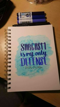 Stiles Stilinski quote. Dylan O'brien. Teen Wolf fan art