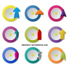 Abstract icons vector pack
