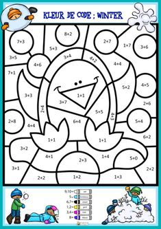 Preschool Math, Kindergarten Math, Teacher Cards, Winter Kids, Math Worksheets, Pre School, Coloring Pages, Activities For Kids, Paper Crafts