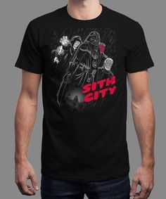 """Sith City"" is today's £8/€10/$12 tee for 24 hours only on www.Qwertee.com Pin this for a chance to win a FREE TEE this weekend. Follow us on pinterest.com/qwertee for a second! Thanks:)"