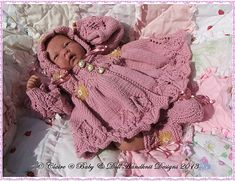 Baby and Doll Hand Knit Designs for Sale
