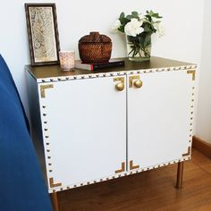 Remodel, refashion and makeover your night tables (bedside tables) under 10€. Full tutorial in English and Spanish.