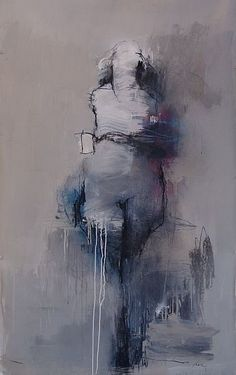 "Figure #79 . 60 x 36"" . charcoal, pastel, acrylic on paper . 2008 