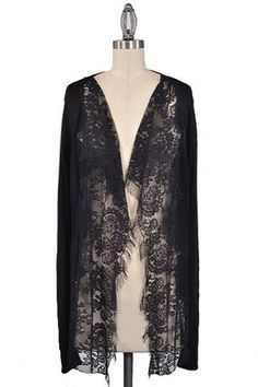 Lady of the Lace Cardigan - Black