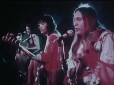 """Tony, Pat (in the middle) and Lolly singing """"We Were All Wounded at Wounded Knee"""" ~ a protest song of Pat's"""