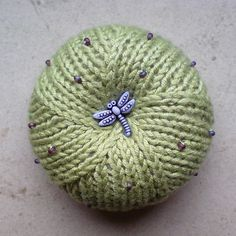 Peyote Pincushion by Iryna Klionava free knitting pattern on Ravelry at http://www.ravelry.com/patterns/library/peyote-pincushion