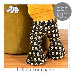 Pdf pattern for kids bell bottoms! Great for babies and toddlers :::Easy tutorial You will need: -Knit fabric for the legs, many different