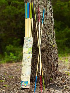 Kids will love this giant pick-up stick game.