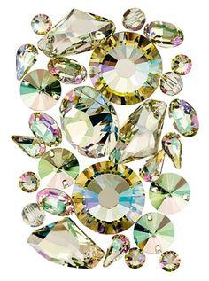 new #SWAROVSKI ELEMENTS Color: Crystal Luminous Green