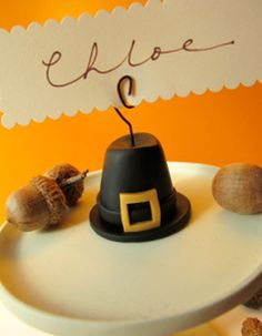 Pilgrim Hat Place Card Holder