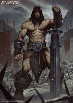 Conan, Todor Hristov on ArtStation at https://www.artstation.com/artwork/conan-0a873fd1-bd4e-4676-ae1f-d133ac7f050a
