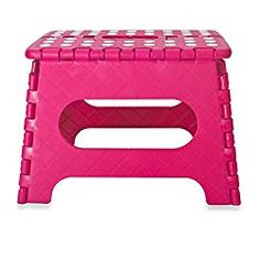 9 inch Folding Step Stool – Anti-Skid Foot Pads – 330lb Capacity (Pink)