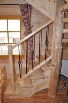Beautiful handmade small log cabin by The Little Log House Company Little Log Cabin, Small Log Cabin, Log Cabin Kits, Log Cabins, Wood Staircase, Wooden Stairs, Mini Chalet, Cosy House, Lodge Style