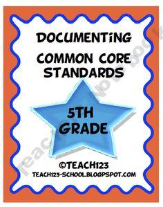 Documenting Common Core Standards - 5th grade - $