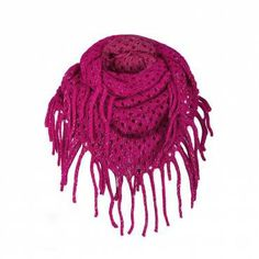 LUREX TASSEL TRIM KNITTED SNOOD - Ally Fashion