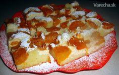 Krehký koláč s tvarohom a marhuľami (fotorecept)