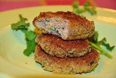 idealne i genialne kotlety z pieczarek Thermomania Salmon Burgers, Ethnic Recipes, Food, Diet, Salmon Patties, Essen, Yemek, Meals