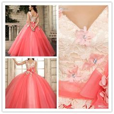 New Quinceanera Formal Prom Party Ball Gown Wedding Dress Custom size #Handmade #BallGown #Formal