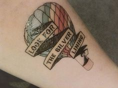 look for the silver lining hot air balloon tattoo